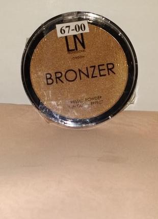 Ln professional bronze sun glow effect.бронзер для лица