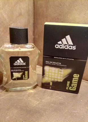 Adidas pure game 100ml edt мужская туалетная вода