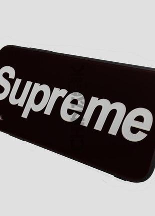 Чехол Supreme силиконовый чёрный для iPhone X/XS