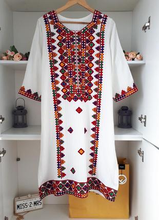 Вышиванка хлопковая  туника платье #розвантажуюсь