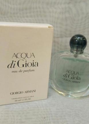 Agua di gioia giorgio armani eau de parfum 50мл тестер