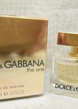 Dolce gabbana the one 30мл женская парфюмированная вода оригинал
