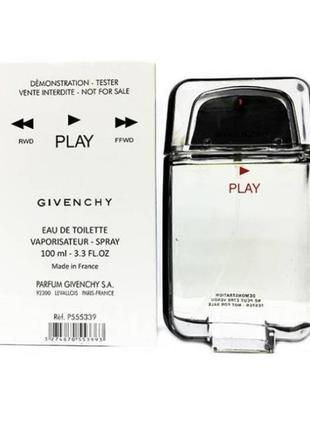 Givenchy play,мужская туалетная вода 100мл тестер