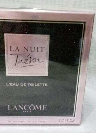 Lancome tresor la nuit,женская туалетная вода 50мл,оригинал.за...