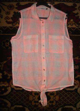 # розвантажуюсь рубашка розовая безрукавка