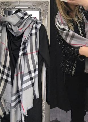 Кашемировый палантин шарф шаль в стиле burberry
