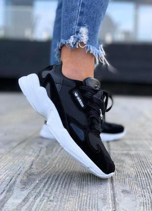 Женские кроссовки adidas falcon black 😍