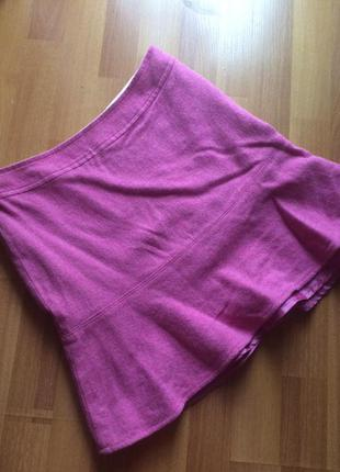 Тёплая яркая шерстяная юбка gap