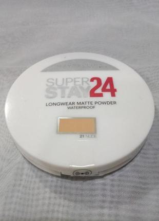 Maybelline superstay 24hr waterproof powder водостойкая пудра,...