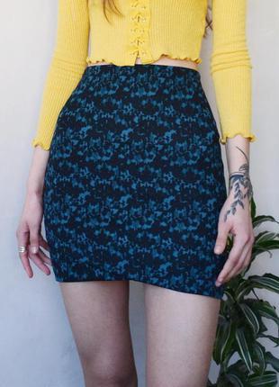 Короткая юбка в принт h&m