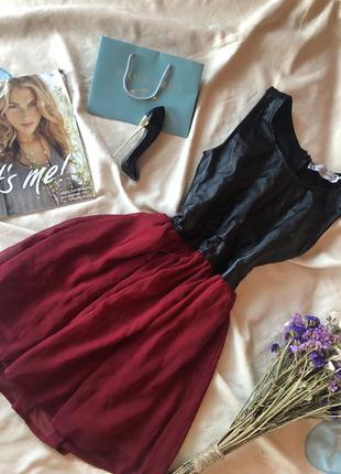 Сарафан , платье с кожзамом и фатином hearts&bows ( с нюансом )