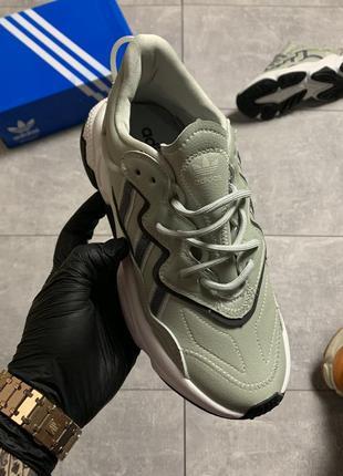 Adidas ozweego light grey, женские кроссовки адидас