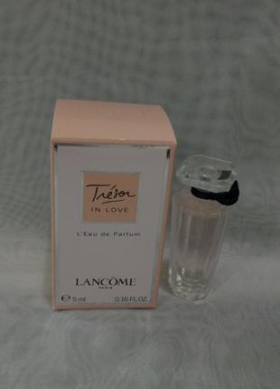 Lancome tresor in love миниатюра 5мл, женская парфюмированная ...