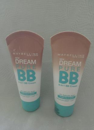 Крем-уход maybelline 8-в-1 для проблемной кожи dream pure bb 3...