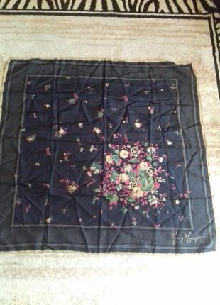 Винтажный шелковый платок)подписной