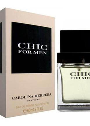 Carolina herrera chic for men,60мл туалетная вода