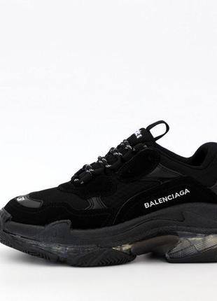 Женские кроссовки balenciaga triple s black 😍