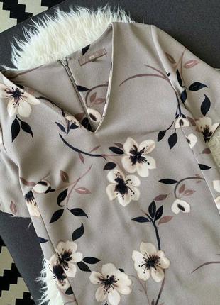 Невероятное 🌺 прямое платье с v-образным вырезом в цветочный п...