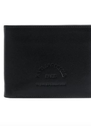 Кожаный бумажник karl lagerfeld с тисненым логотипом !