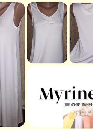 Домашнее трикотажное платье без рукавов,ночная рубашка,сорочка...