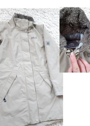 Стильная удлиненная куртка ,jack wolfskin, p. xs
