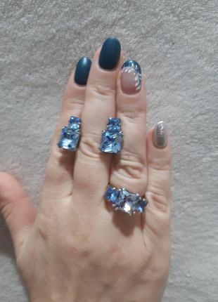 Красивый набор с камнями сваровски