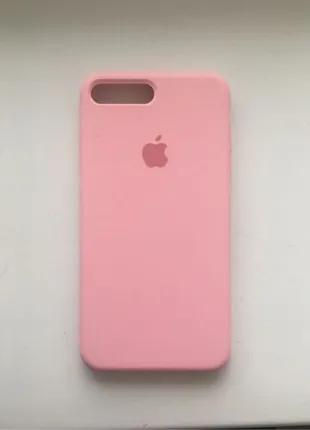 Чехол для iPhone 7/8 plus Silicone Case, розовый