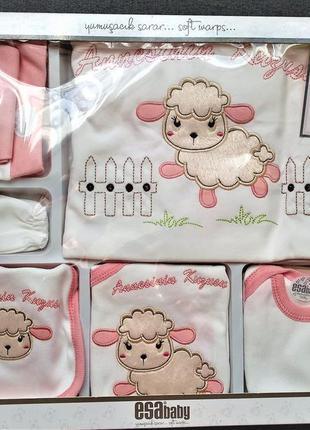 Набор для новорожденной 10 в 1, плед и комплект одежды
