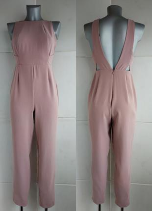 Стильный комбинезон с брюками river island розового цвета
