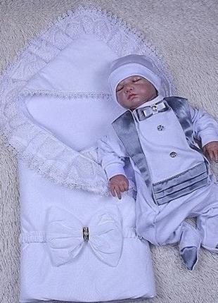 Комплект на выписку , нарядный костюм