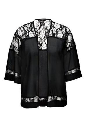 Женская кружевная накидка с пайетками, блуза кимоно esmara гер...