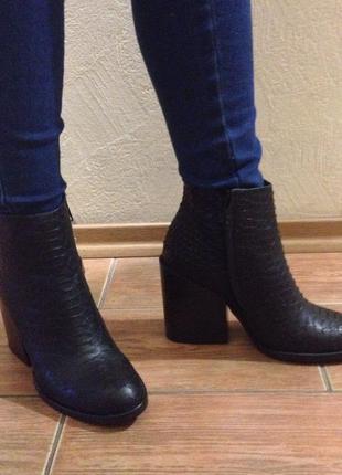 Ботинки женские кожаные zara