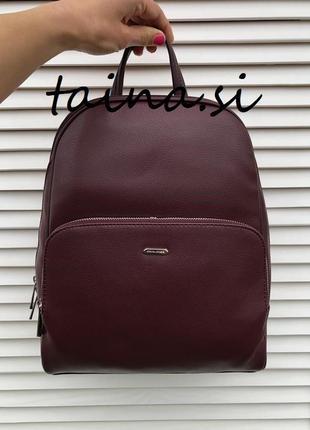 Рюкзак женский david jones cm5485t d. purple оригинал бордовый...