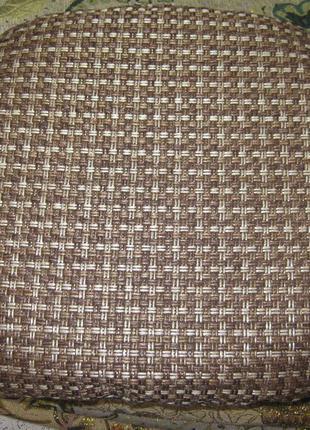 Гобеленовая подушка чехол на резинке на табурет