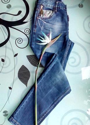 Фирменные джинсы/джинсы высокая посадка