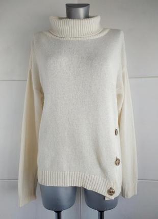 Стильный шерстяной свитер benedetta italy с высоким воротником...