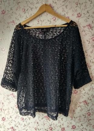 Блуза плетёная кофточка накидка