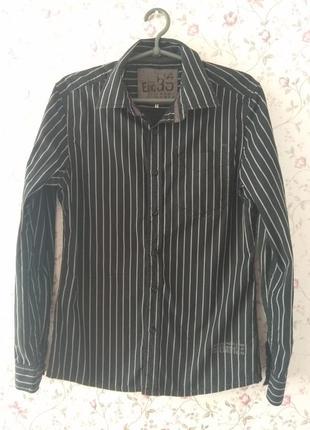 Мужская полосатая черная рубашка