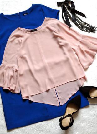 #розвантажуюсь стильная розовая блуза atmosphere с воланами, р...