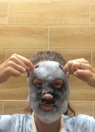 Кислородная маска purederm deep purifying black o2 bubble mask...