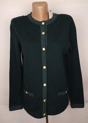 Джемпер свитер зеленый шерстяной новый marks&spencer uk 12/40/m