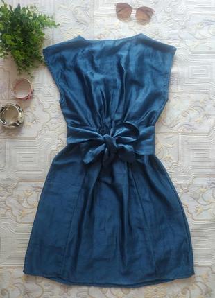 Платье синее металлик