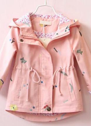 Куртка, плащ на девочку на весну, куртка на дівчинку, размеры ...