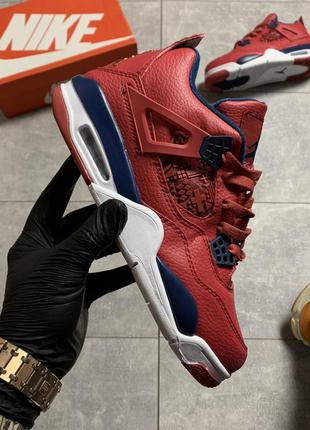 Nike air jordan 4 retro red blue