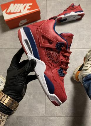 Мужские высокие кроссовки найк эир джордан красные, nike air j...