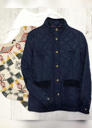 Стеганая темно-синяя куртка