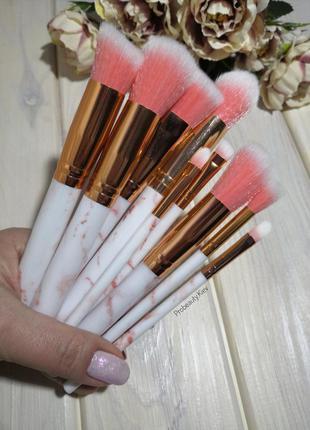 + подарок! 13-16 см 10 шт мраморные кисти для макияжа мрамор m...