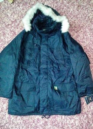 Куртка парка (аляска) зимняя,  мужская (для больших ).