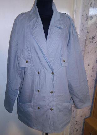 Натуральный,пиджак-френч-куртка с погончиками,милитари,хаки,бо...