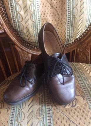 Туфли на шнуровке,полностью кожа,от бренда waldlaufer
